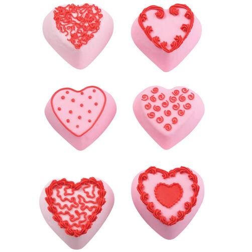 Mini Heart Fantasy Cakes