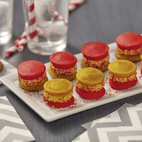 Wilton Red and Silver Mini Whoopie Pies