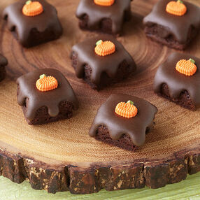 Fall Glazed Brownie Bites