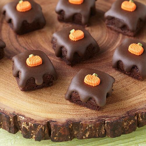 Fall Glazed Brownie Bites
