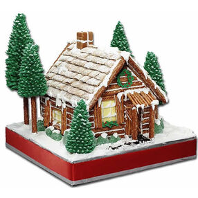Rustic Retreat Gingerbread House