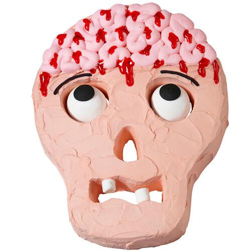 Mmmm Brains Skull Cake
