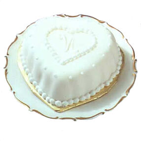 Fancy Hearts Mini Cake