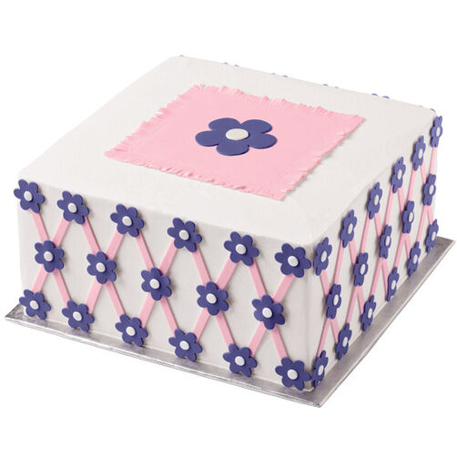 Vivid Violets Lattice Cake