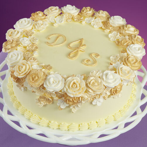 Glorious Golden Rose Cake
