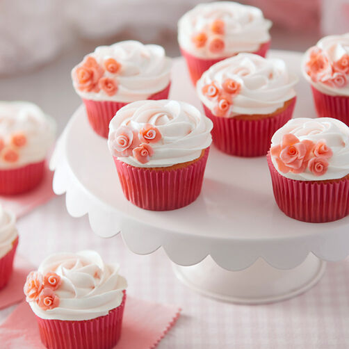 Rosy Pink Cupcakes