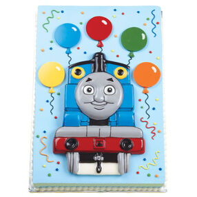 Thomas Brings the Balloons Cake
