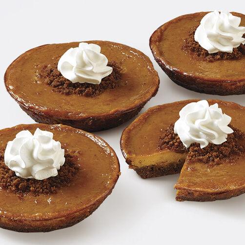 Pumpkin Ginger Crumb Tarts