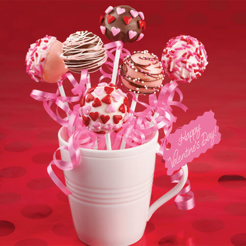 Cake Pop Decorating Ideas Valentines : Valentine Variety Cake Pops Wilton