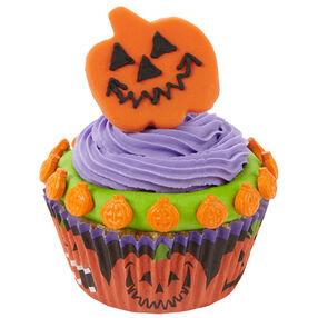 Jittery Jack-O?-Lantern Cupcakes