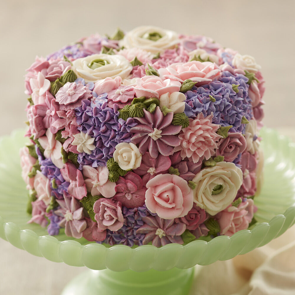 Lovely Blossoming Spring Flowers Cake Pictures Gallery
