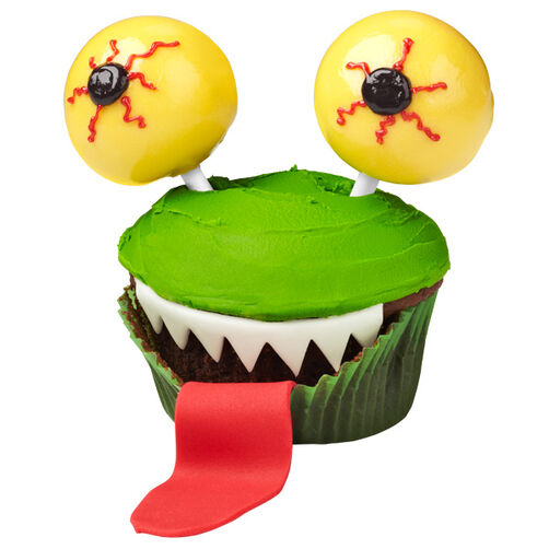 Eye-popping Green Monster Cupcakes