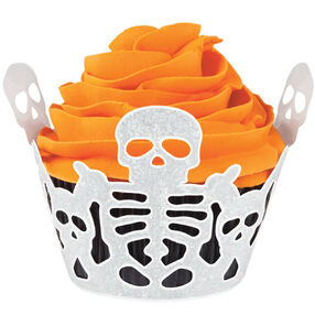 Halloween Glam Skeleton Cupcakes