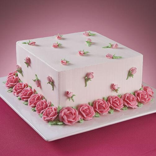 Visions Floral Art And Cake Design : Abundant Roses Cake Wilton