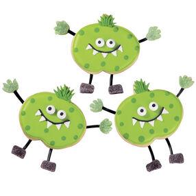 Green Meanie Halloween Cookies