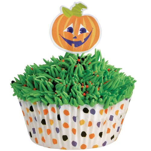 Polka Dot Pumpkin Cupcake