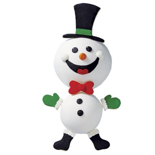 Dancing Snowman Christmas Cake