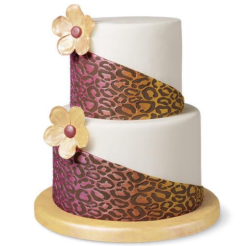 Leopard Print Fondant Cake