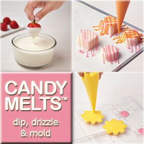 candy melts dip drizzle and mold - Wilton Cake Decorating Classes