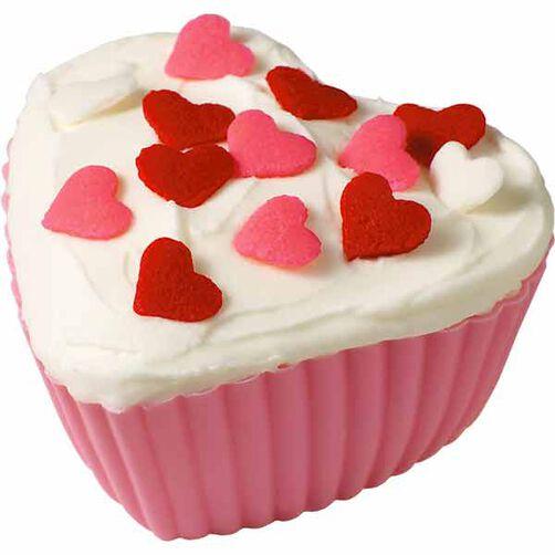 Jumbo Heart-y Cupcakes