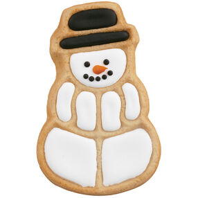 Smiling Snowman Cookie