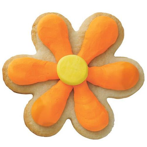 Sunshine Orange Flower Cookie