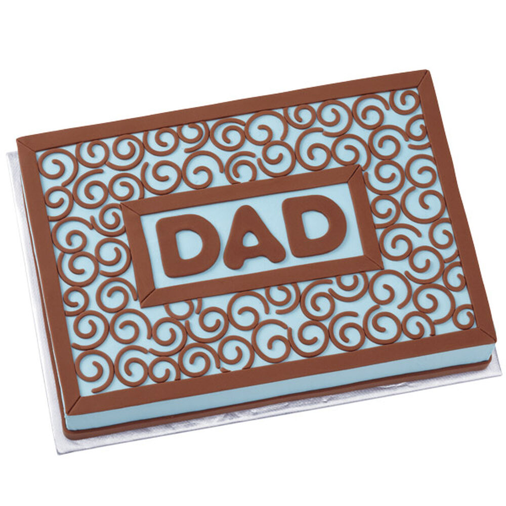 Fondant Cake Ideas For Father S Day : Father s Day Tribute Cake Wilton