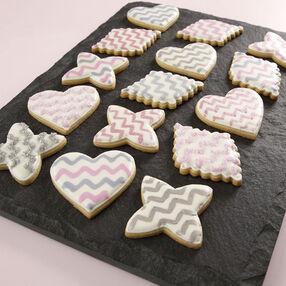 Modern Valentine Chevron Cookies