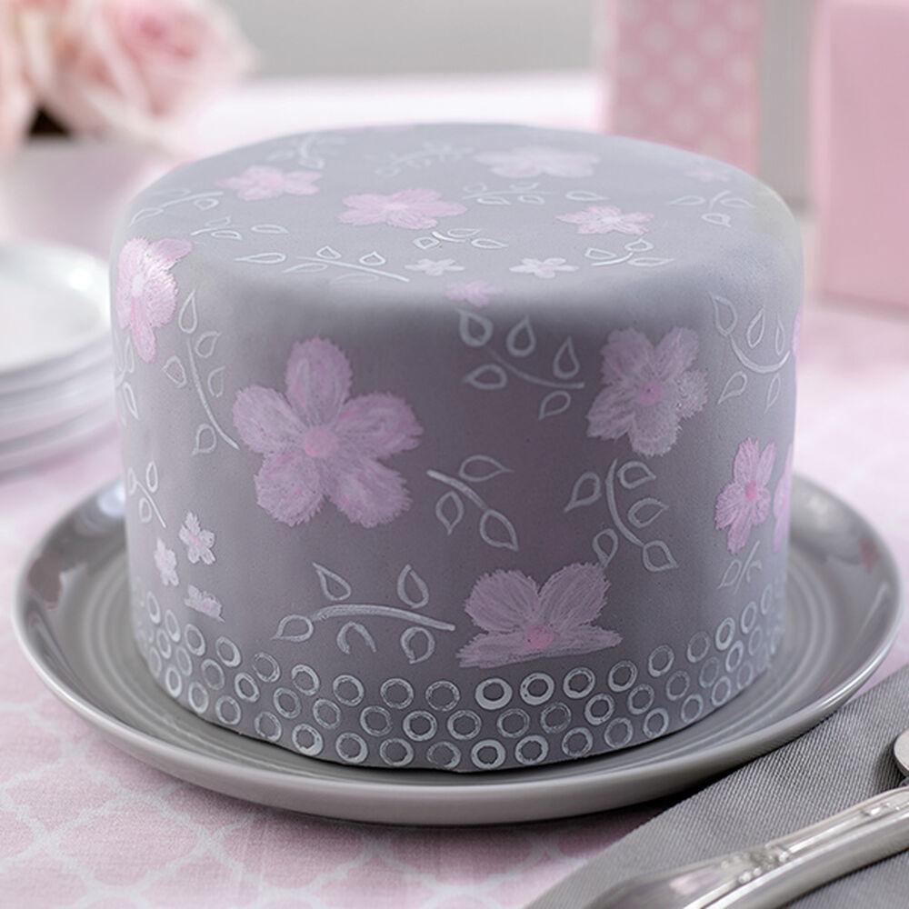 Wilton Cake Decorating Tips Fondant : Garden Brushstrokes Fondant Cake Wilton