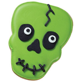Ghastly Green Skull Cookie