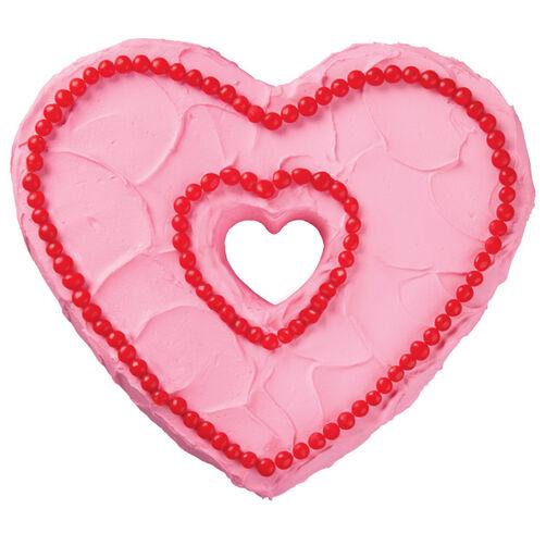 Wilton Heart Cake Pan Servings