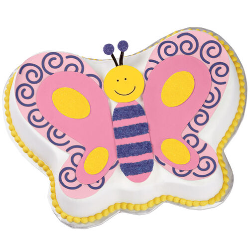 Fluttering Butterfly Birthday Cake