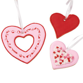 Heart Trio Ornament Cookies