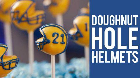 Donut Hole Football Helmet Pops