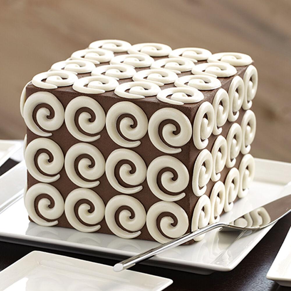 Modern Candy Swirl Cake Wilton