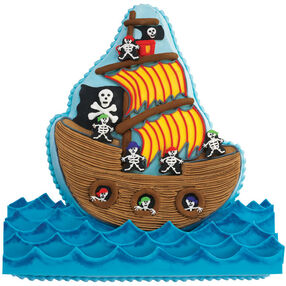 pirate ship cake instructions
