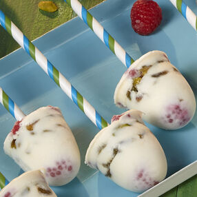 Pistachio & Raspberry Greek Yogurt Pops