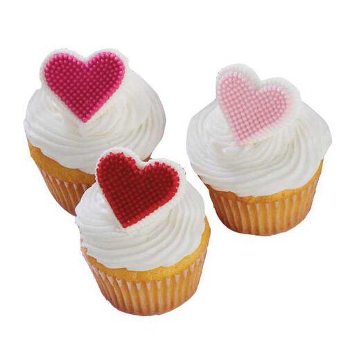 Mini Heart Cupcakes