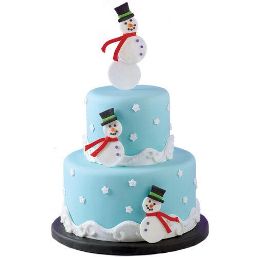 Snowman Summit Cake
