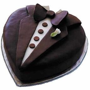 Tasteful Tux Cake