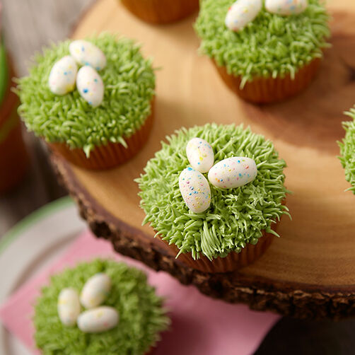 Speckled Egg Cupcakes