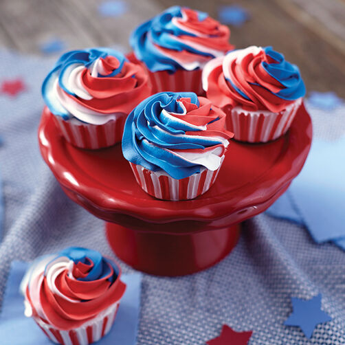 Red White And Blue Cake Decorating Ideas