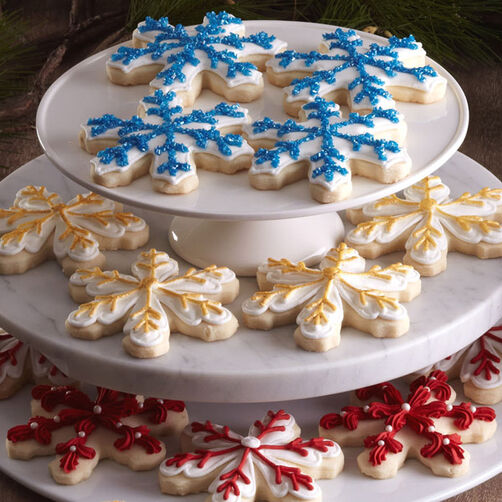 Snowflake Shortbread Cut-outs