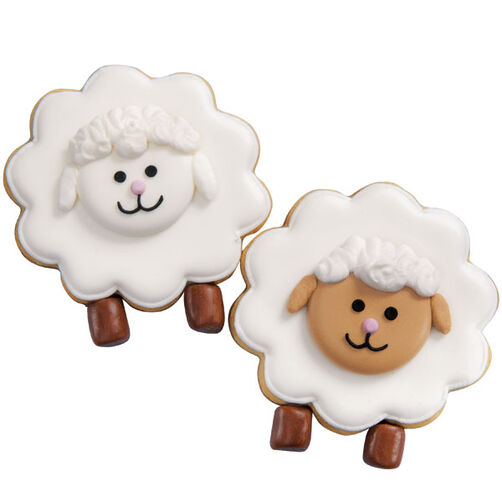 Baa-Baa Baked Sheep Cookies