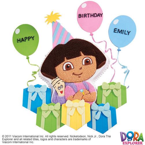 Dora Explores the Gifts Cake & Cupcake
