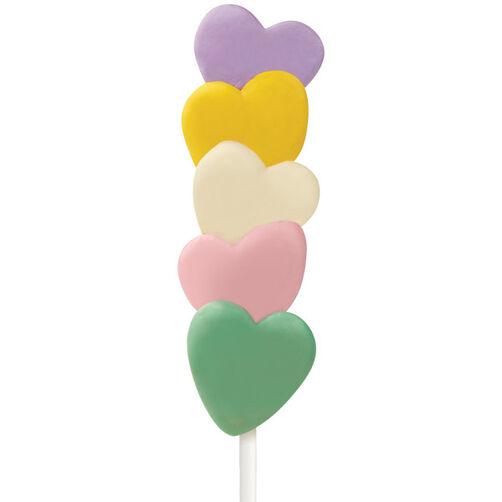 Pastel Hearts Cake on a Stick