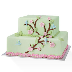 Nature Designs with a Hint of the Orient Cake