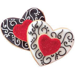 Inscribed Hearts Cookies
