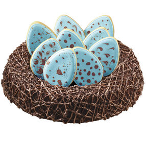 Brownie Nest with Robin's Egg Cookies