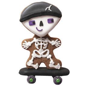 Spooky Skateboarder Halloween Cookies